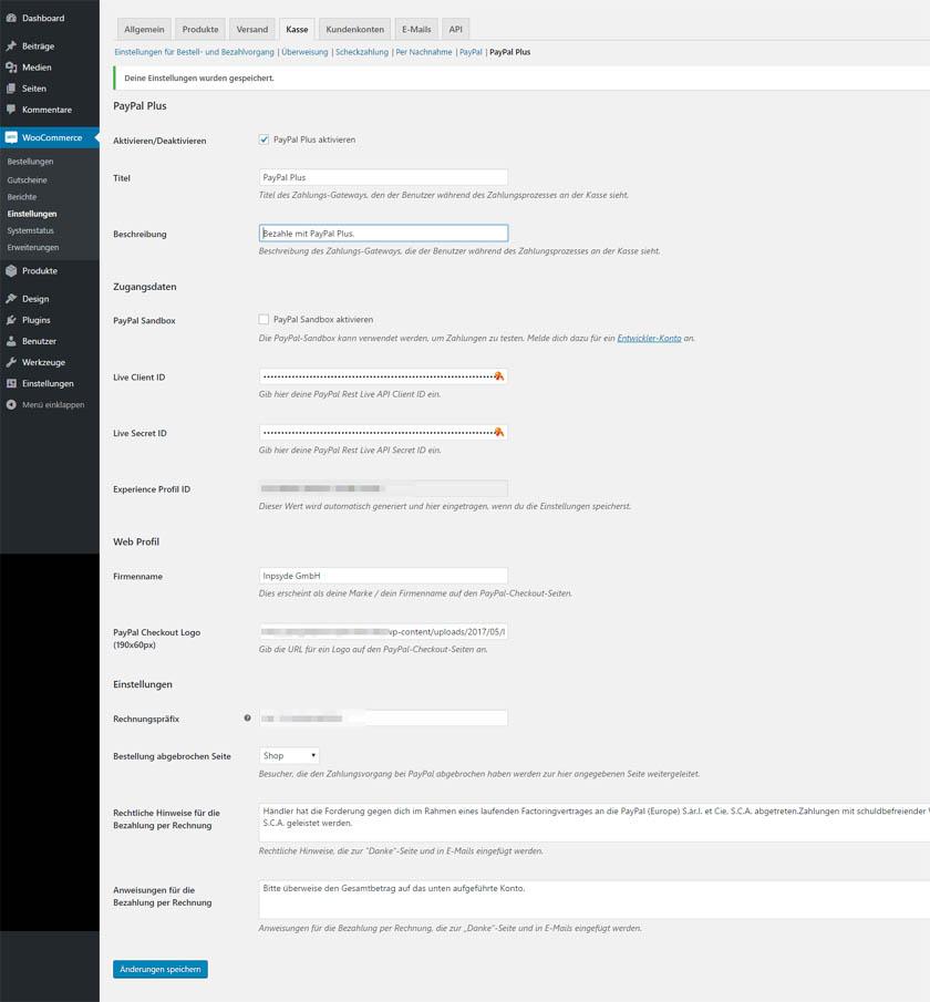 PayPal-PLUS-Plugin für WooCommerce