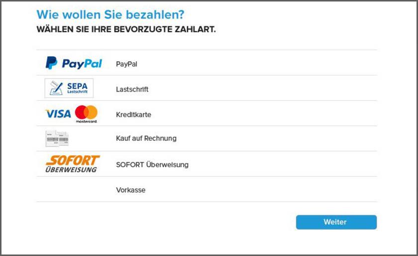PayPal-PLUS-Zahlungsarten