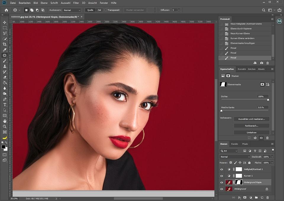 Photoshop-Oberfläche