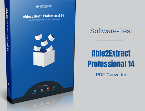 Softwaretest: PDF-Converter Able2Extract Professional 14