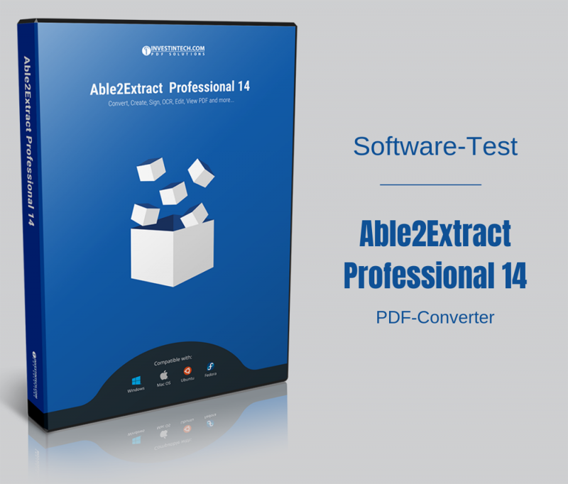 Softwaretest PDF-Converter Able2Extract Professional 14