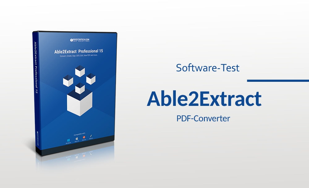 Softwaretest: PDF-Converter Able2Extract Professional 15