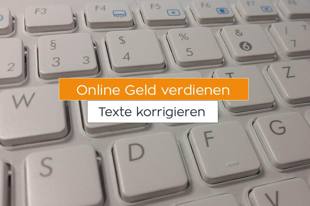 Online Geld verdienen: Texte korrigieren