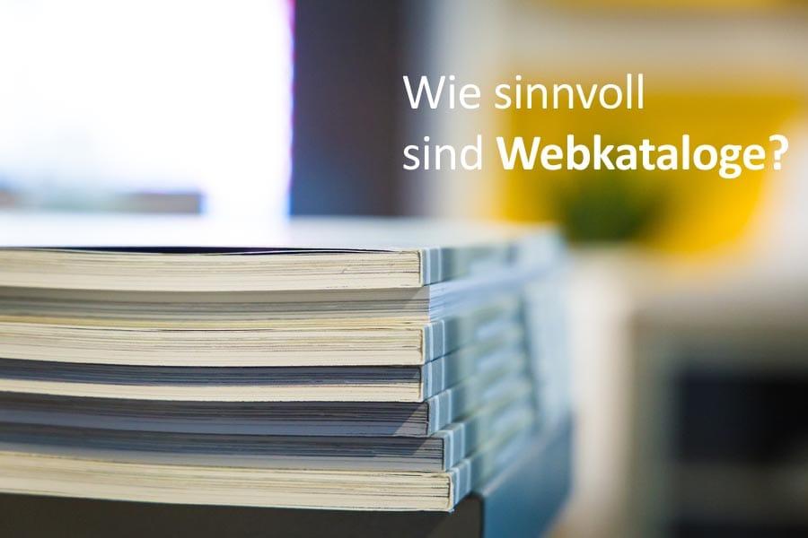 Wie sinnvoll sind Webkataloge?