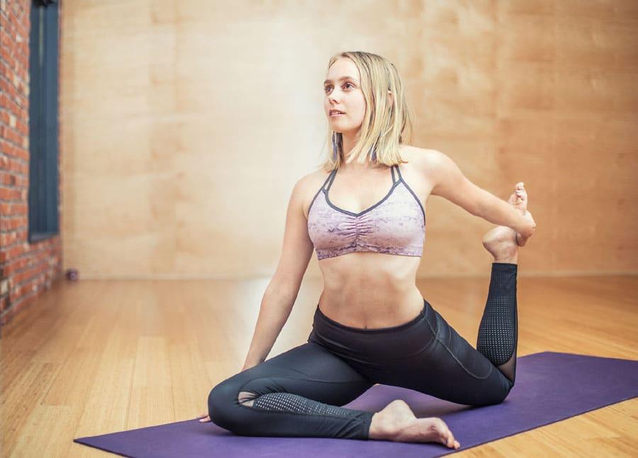 Yogalehrerin im Nebenberuf