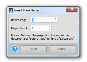 Leere Seiten zur PDF hinzufügen