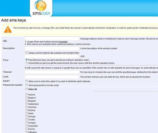 Geld verdienen mit den Premium-SMS-Diensten von SMScoin