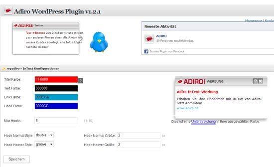 Geld verdienen mit Adiro - WordPress-Plugin
