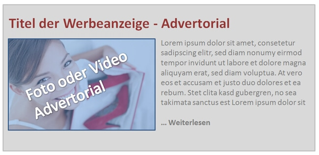 Advertorial Layout