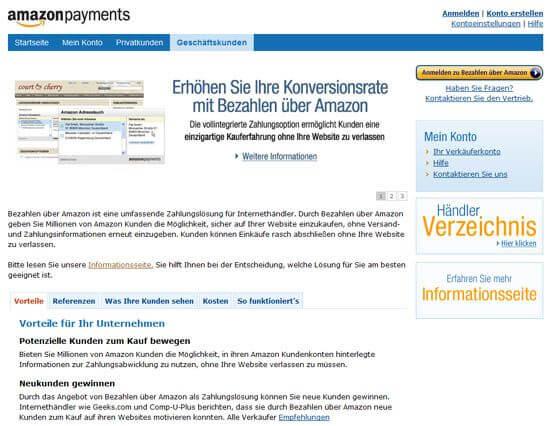 Neuer Bezahldienst von Amazon: Amazon Payments - Bezahlen über Amazon