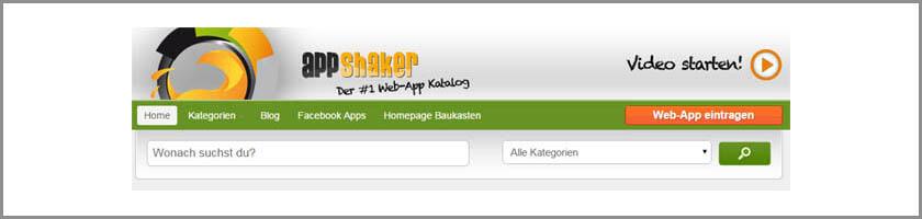 Website-Tipp: Effiziente Web-App-Suche mit AppShaker