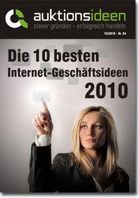 Oktober-Ausgabe des Magazins Auktionsideen - Die 10 besten Internet-Geschäftsideen 2010