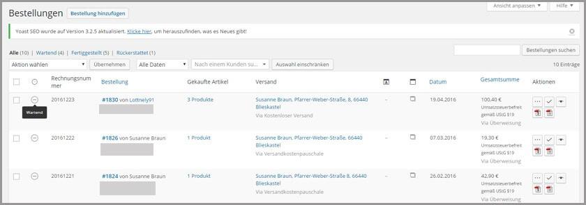 WooCommerce Leitfaden: Teil 8 - Verwaltung von Bestellungen