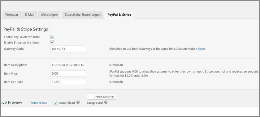 Contact Form 7 – PayPal & Stripe