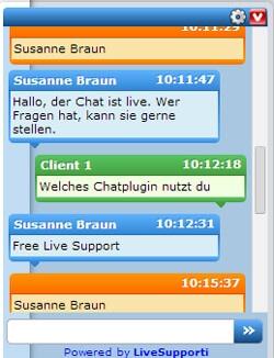 Chatfenster LiveSupporti