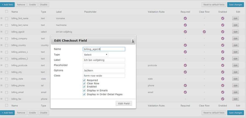 Woo Checkout Field Editor Pro