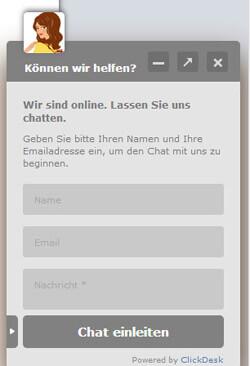 Chat-Widget von ClickDesk