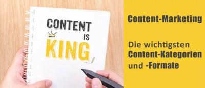 Content-Marketing: Die wichtigsten Content-Kategorien und -Formate