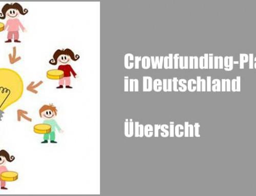 Crowdfunding-Plattformen in Deutschland – Übersicht