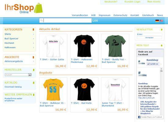 online shop erstellen mit der e commerce software randshop. Black Bedroom Furniture Sets. Home Design Ideas