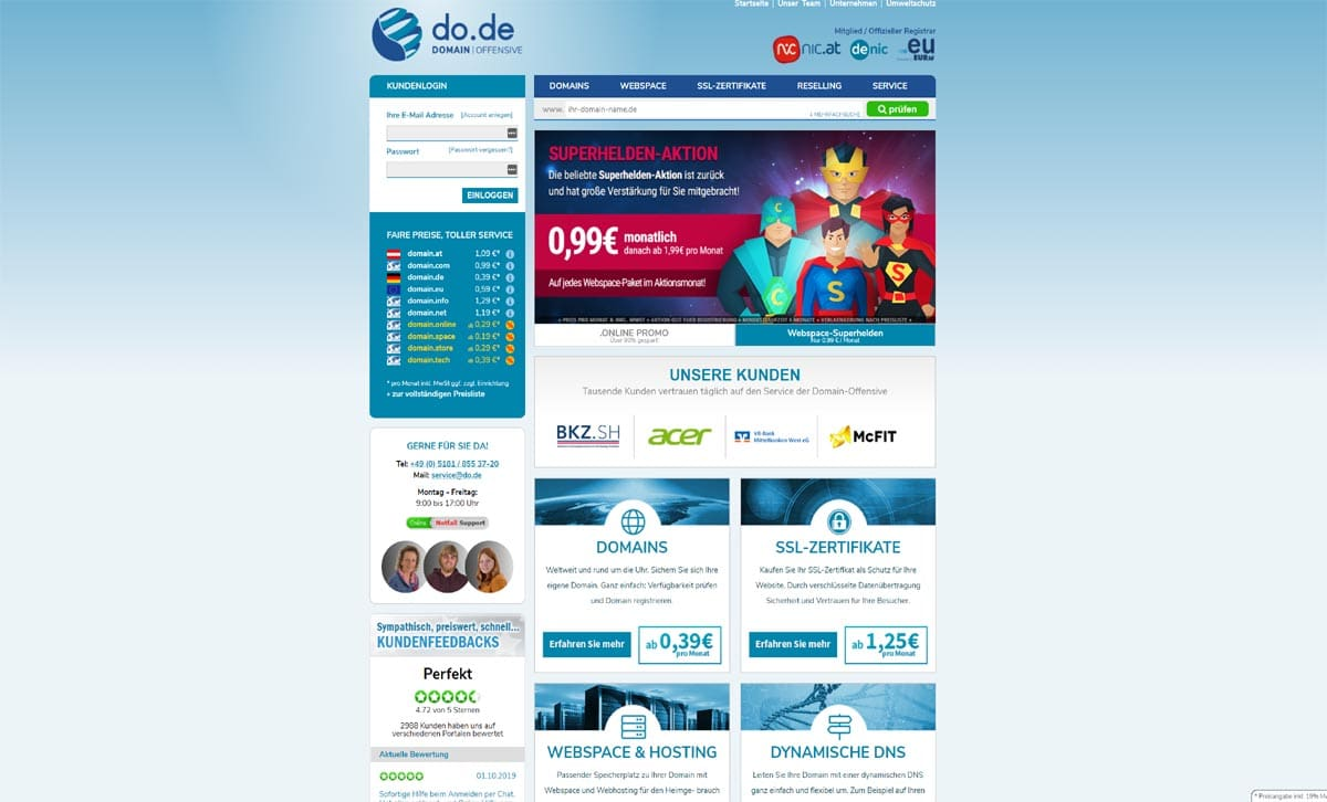 Domains kaufen