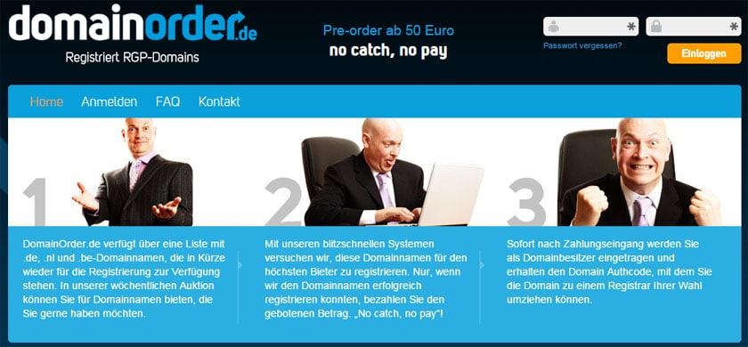 Interessante Domains sichern mit DomainOrder.de