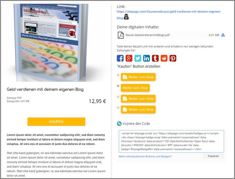 Geld verdienen mit dem Verkauf von digitalen Produkten: Vorstellung von elopage