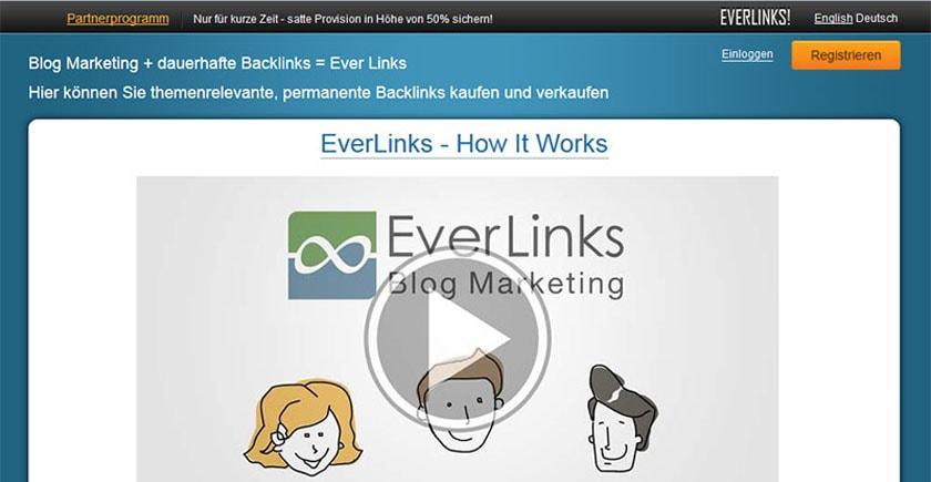 EverLinks.net - Marktplatz für Textlinks: Backlinks kaufen und verkaufen