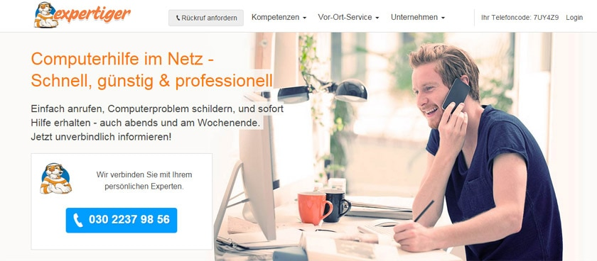 Partnerprogramm des Monats: Online-Computer-Service von Expertiger.de