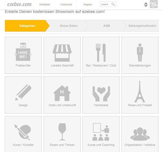 ezebee - Shopkategorien