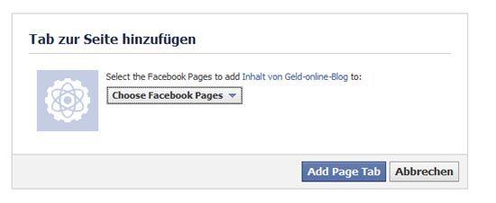 Facebook-App zuweisen