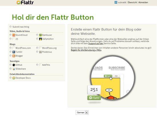flattr-Button einfügen