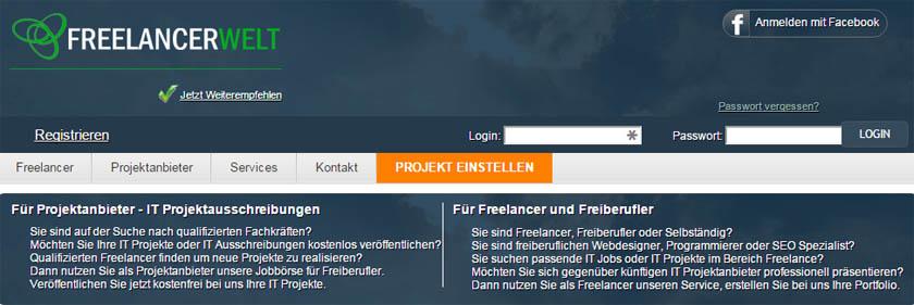 Freelancerwelt online marktplatz f r it projekte for Jobs als freelancer