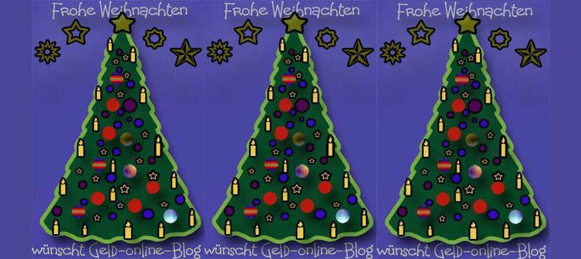 Frohe Weihnachten wünscht Geld-online-Blog