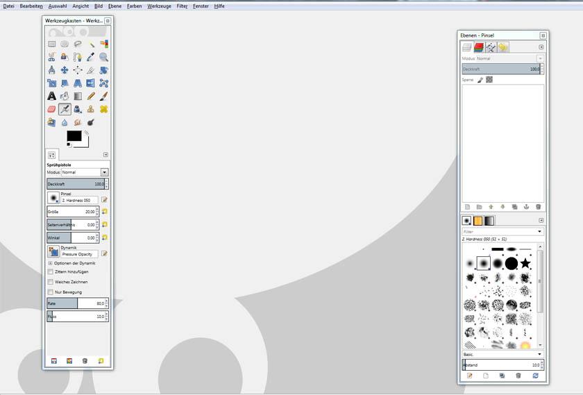 GIMP Oberfläche