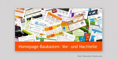 Homepage Baukasten: Vor- und Nachteile