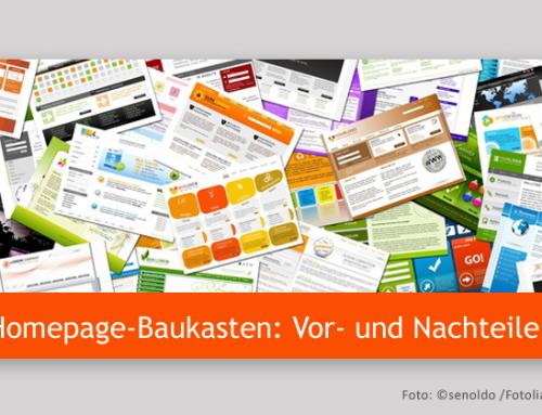 Website-Erstellung mit einem Homepage-Baukasten: Die Vor- und Nachteile