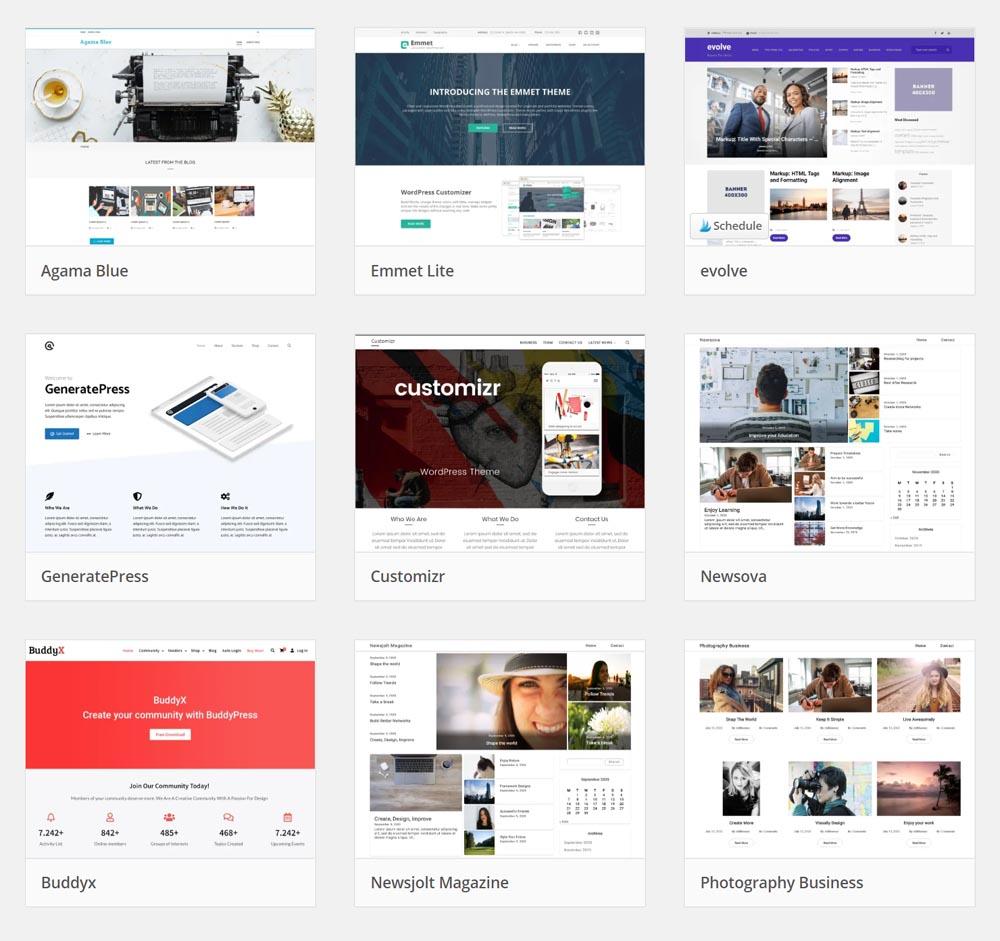 kostenlose BuddyPress-Themes