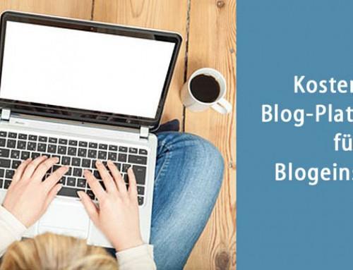 Kostenlose Blog-Plattformen für Blogeinsteiger/innen