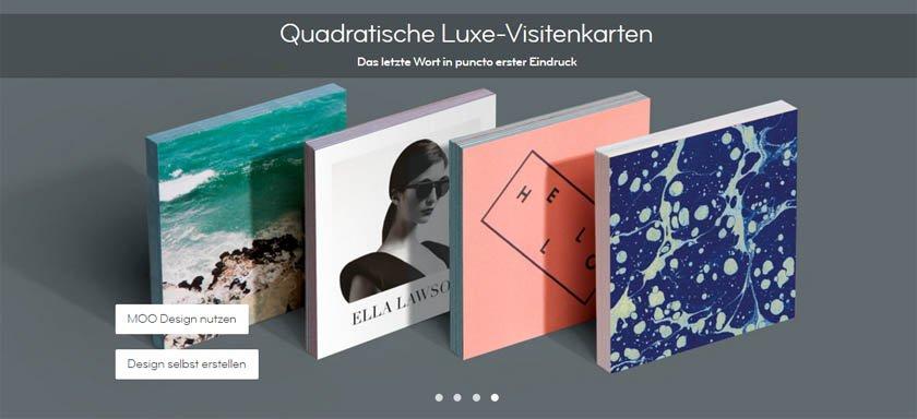 Quadratische Moo-Luxus-Visitenkarten