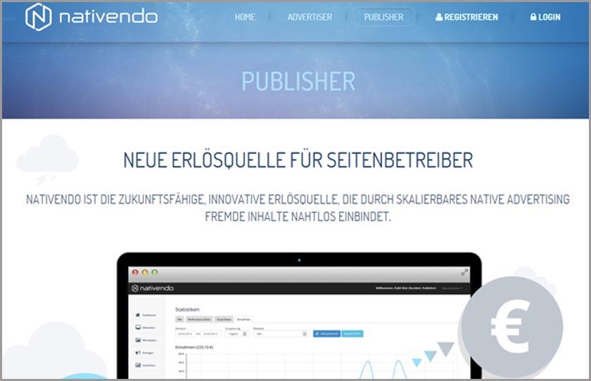 Geld mit einem Blog verdienen - Neuer Service nativendo gestartet