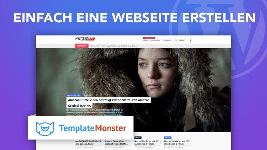 Website-Gestaltung von TemplateMonster