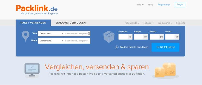 Versandkosten berechnen und Pakete günstig versenden mit Packlink.de