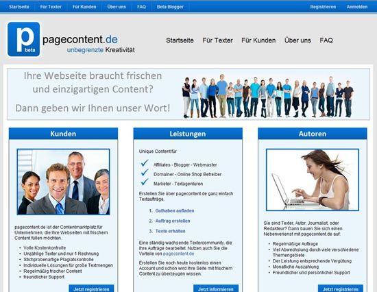 Webautor bei pagecontent