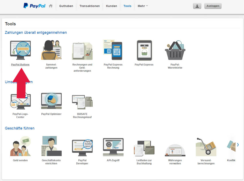how to add paypal button to website