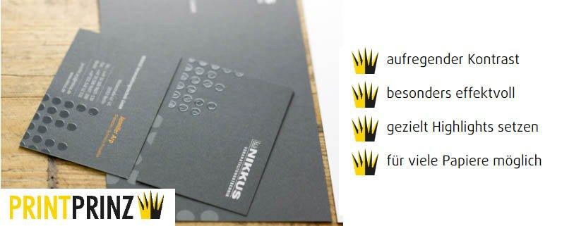 Printprinz - UV-Lack-Visitenkarten