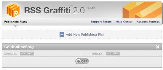 Seine Blogbeiträge automatisch auf Facebook posten mit RSS Graffiti