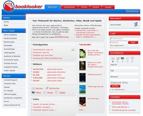 Geld verdienen mit dem Verkauf von Büchern, Hörbüchern, Filmen, Musik und Spielen bei Booklooker