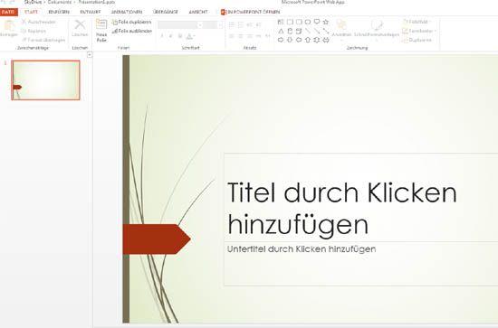 SkyDrive - PowerPoint Web App