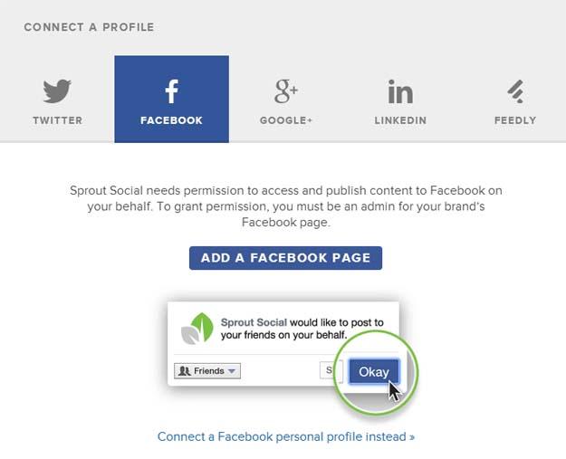 sproutsocial - Profil hinzufügen